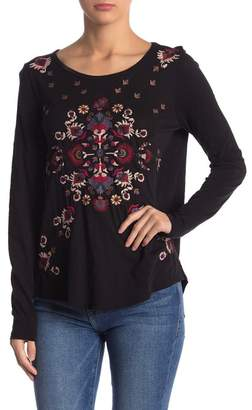 Lucky Brand Embroidered Long Sleeve Tee