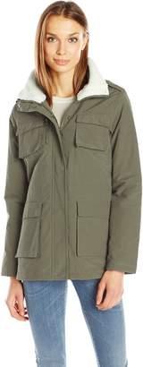 Madden-Girl Women's Wax Cotton Utility Jacket