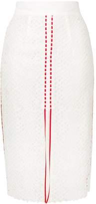Pinko stripe details lace skirt