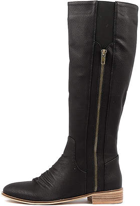 Ko fashion Breaser-w Black Boots Womens Shoes Long Boots