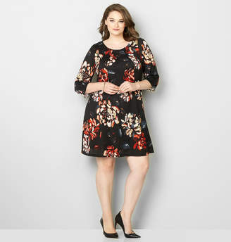 Avenue Seamed Floral Hacci Dress