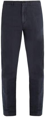 Massimo Alba Straight-leg linen and cotton-blend trousers