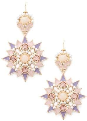 Forever 21 Rhinestone Starburst Drop Earrings