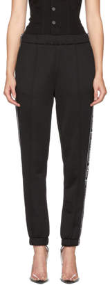 Alexander Wang Black Logo Tape Track Pants