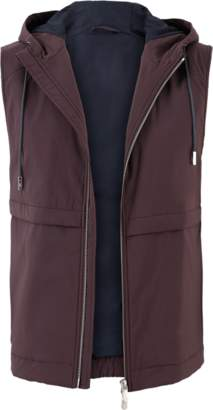 Eleventy Nylon Hooded Vest