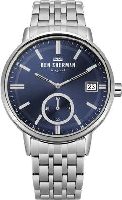 Ben Sherman Men's 'Portobello Professional' Quartz and Stainless Steel Casual Watch, Color Silver-Toned (Model: WB071USM)