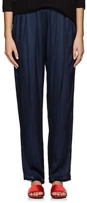 Raquel Allegra Women's Textured Satin Pleated Pants