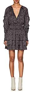 Ulla Johnson Women's Soraya Floral Tiered Minidress - Black