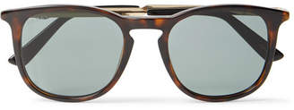 Gucci Round-Frame Tortoiseshell Acetate and Gold-Tone Sunglasses - Men - Tortoiseshell