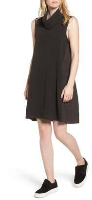 James Perse Mixed Media Turtleneck Shift Dress