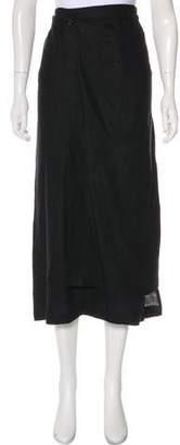 eskandar Solid Midi Skirt