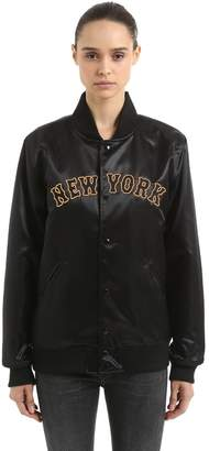 New Era New York Yankees Satin Varsity Jacket