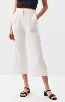 MinkPink Linen Cropped Pants