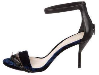 3.1 Phillip Lim Leather-Trimmed Ankle Strap Sandals