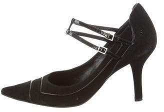 Pollini Pointed-Toe Ankle Strap Pumps