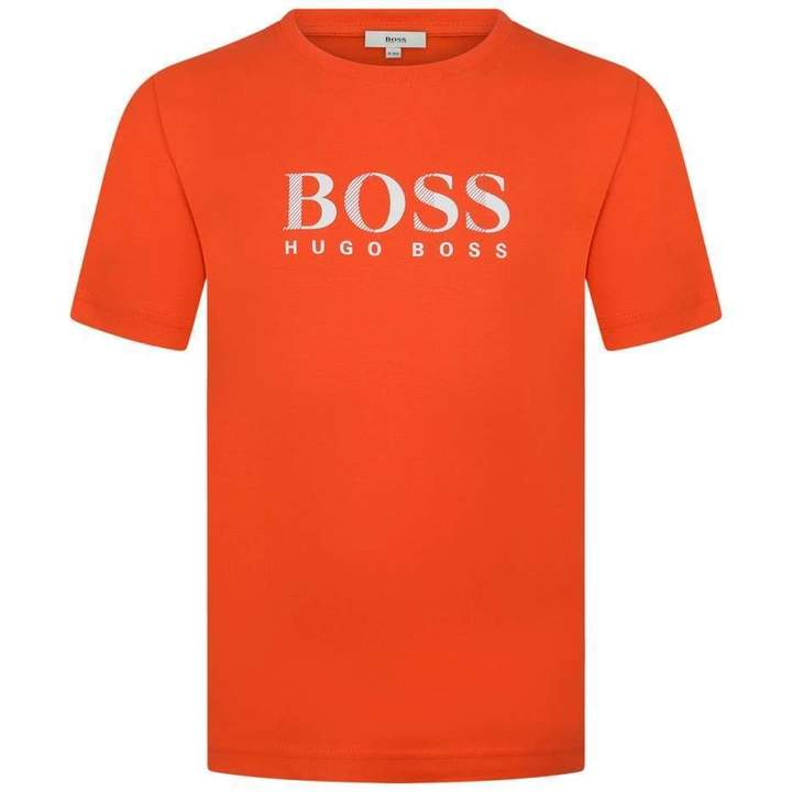 BOSS KidsBoys Orange Cotton Jersey Top