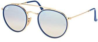 Ray-Ban Rb 3647n 001/9u Round Double Bridge Gold Sunglasses.