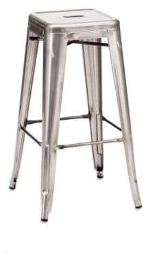ZUO Marius Two-Piece Steel Barstool Set