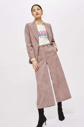 Topshop Corduroy Cropped Wide Leg Trousers