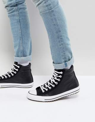 Converse Chuck Taylor All Star Street Sneaker Boots In Black 157496C001