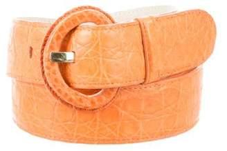 Nancy Gonzalez Crocodile Leather Buckle Belt