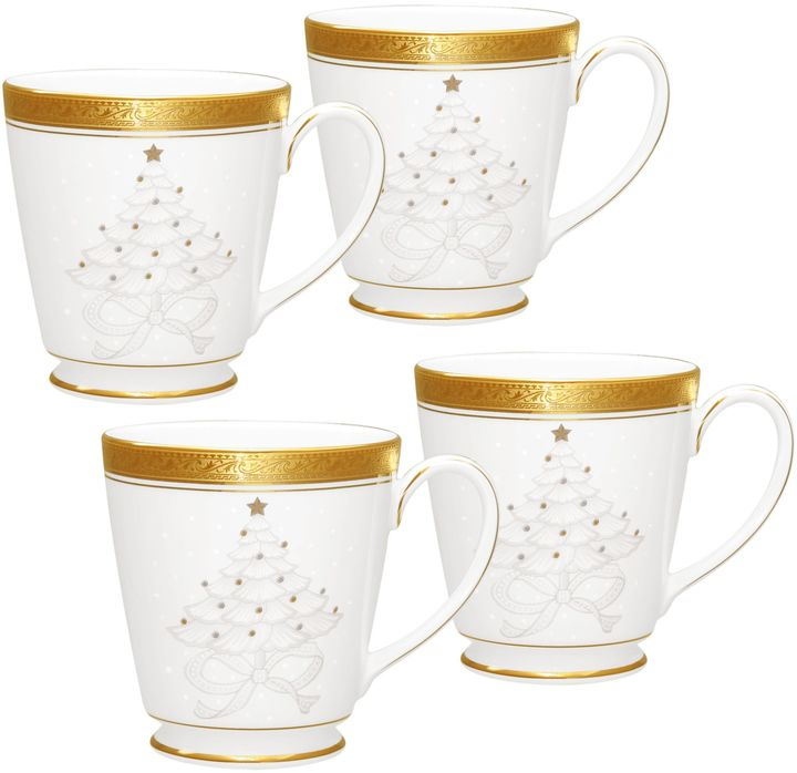 Noritake Noritake® Crestwood Gold Holiday Accent Mug (Set of 4)