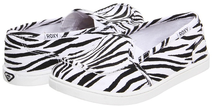 Roxy Kids - Lido (Toddler/Youth) (Zebra) - Footwear