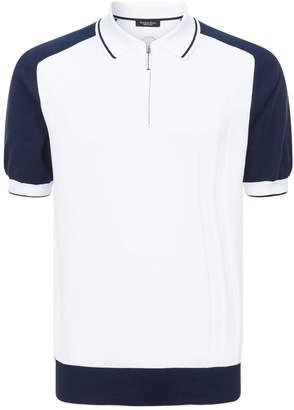 Stefano Ricci Contrast Sleeve Polo Shirt