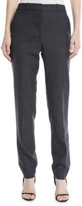 Calvin Klein Slim Straight-Leg Worsted Wool Check Pants