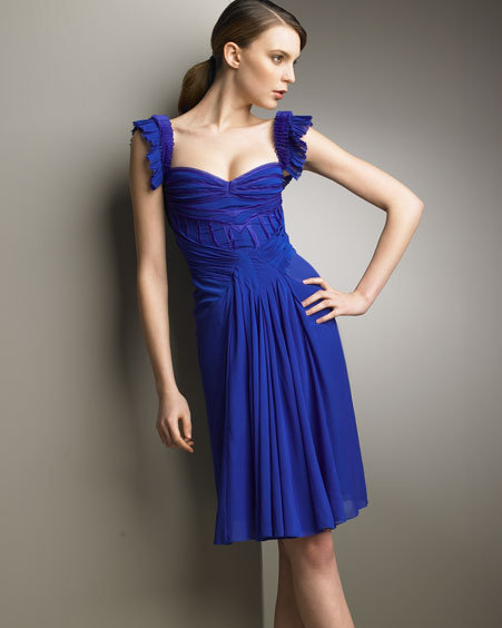 Zac Posen Silk Ibis Dress