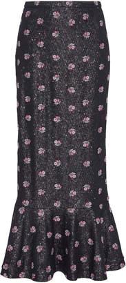 Saloni Aidan Embellished Sequin Midi Skirt