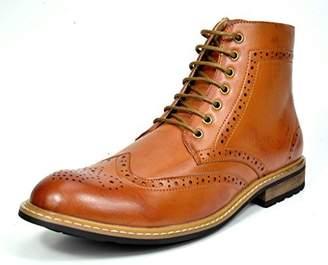 Andrew Marc BRUNO Bruno Marc Men's Bergen-01 Leather Lined Oxfords Dress Ankle Boots