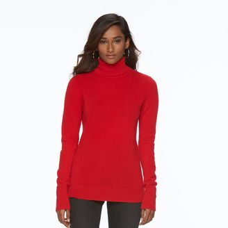 Women's Apt. 9® Turtleneck Cashmere Sweater $120 thestylecure.com