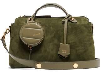 98128b2c3b27 Fendi By The Way Suede Shoulder Bag - Womens - Khaki
