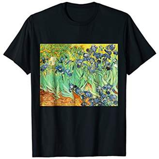 Vincent Van Gogh Irises 1889 Painting t-shirt