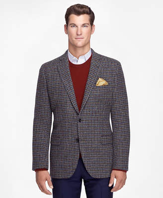 Brooks Brothers Fitzgerald Fit Harris Tweed Houndstooth Sport Coat