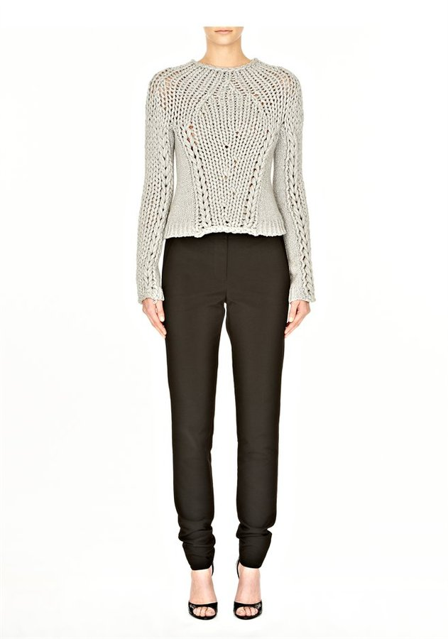 Alexander Wang Skinny Boy Pant With Leather Belt