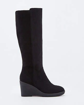 Le Château Faux Suede Knee-High Wedge Boots