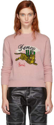 Kenzo Pink Limited Edition Jumping Tiger Sweater