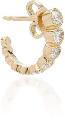 Sophie Bille Brahe Boucle Ensemble 18K Gold Diamond Hoop Earring