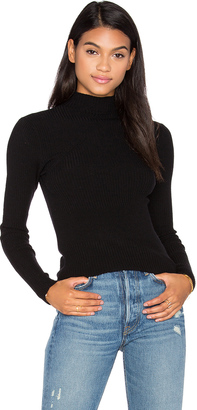 Autumn Cashmere Ribbed Funnel Neck Sweater $242 thestylecure.com