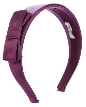 Miu Miu Bow Satin Headband