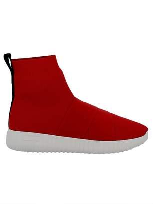Fessura Red Fabric Sneakers