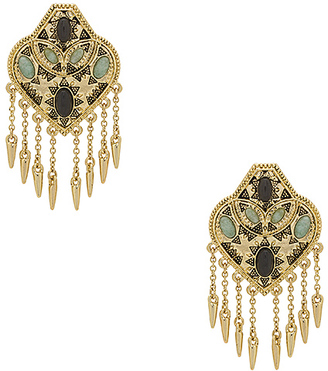 House of Harlow 1960 Montezuma Statement Earrings in Metallic Gold. $81 thestylecure.com