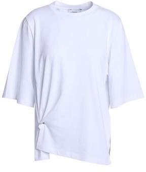 3.1 Phillip Lim Gathered Cotton-jersey T-shirt