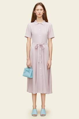 Mansur Gavriel Silk Short Sleeve Shirt Dress
