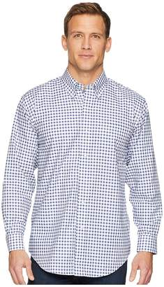 Magna Ready Long Sleeve Magnetically-Infused Check Dress Shirt- Button Down Collar Men's Clothing