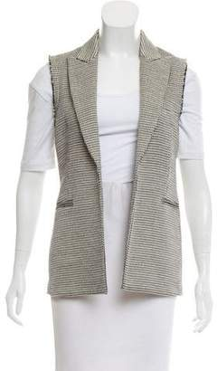 Theory Peak-Lapel Metallic Vest