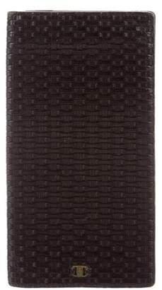 Salvatore Ferragamo Woven Leather Fold-Over Wallet