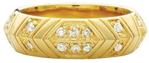 House Of Harlow Pave Medium Stack Ring